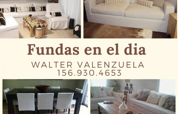 Walter Valenzuela – Fundas de sillones y cubre sommier a medida.