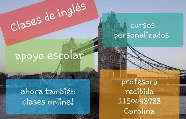 Profesora de Inglés – Carolina Mirabella